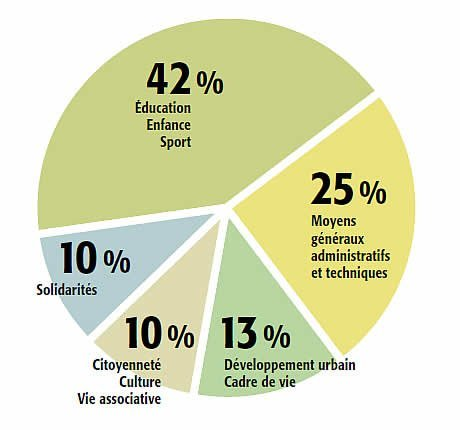 graphique repartition budget style camenbert